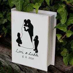 Svatební dřevěná kniha ROMÁN