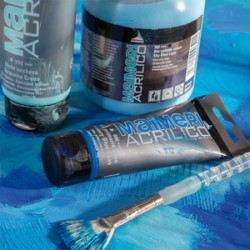 Akrylová barva Maimeri Acrilico 200 ml - modrá nebeská světlá 362