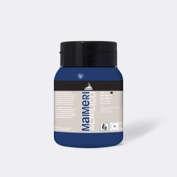 Akrylová barva Maimeri Acrilico 500 ml - modrá námořnická tmavá 388