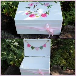 Dřevěná svatební krabička na přání a dary RŮŽENÍN
