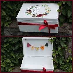 Dřevěná svatební krabička na přání a dary JASPIS