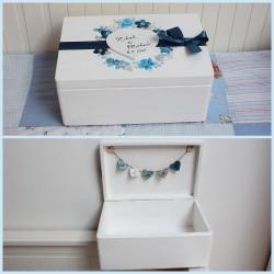 Dřevěná svatební krabička na přání a dary AZURIT