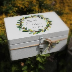 Dřevěná SVATEBNÍ krabička botanicus