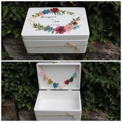 Dřevěná svatební krabička na přání a dary MAGIE