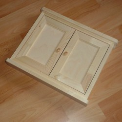MAXI dřevěná skříňka na klíče dvojitá přírodní
