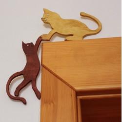 Dřevěná koťata na dveře