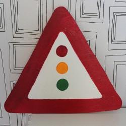 Dekorace dopravní značka Pozor semafor