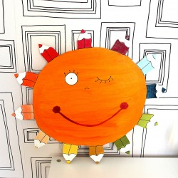 Dekorace na zeď slunce pastelka
