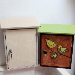 Velká poštovní schránka ze dřeva k vlastnímu tvoření