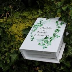 Dřevěná krabička KNIHA břečťan