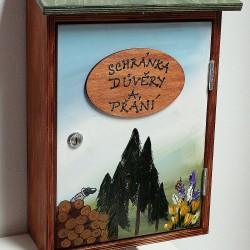 Poštovní schránka důvěry - lesnická škola