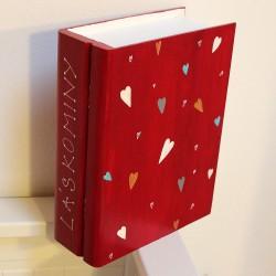 Svatební dřevěná krabička KNIHA zamilovaných