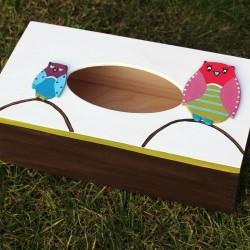 krabička na kapesníky soví