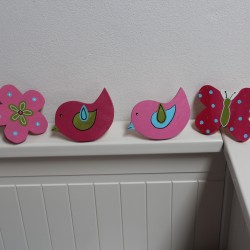 Knopky na nábytek MIX růžovky
