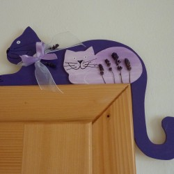 kočka levandulová