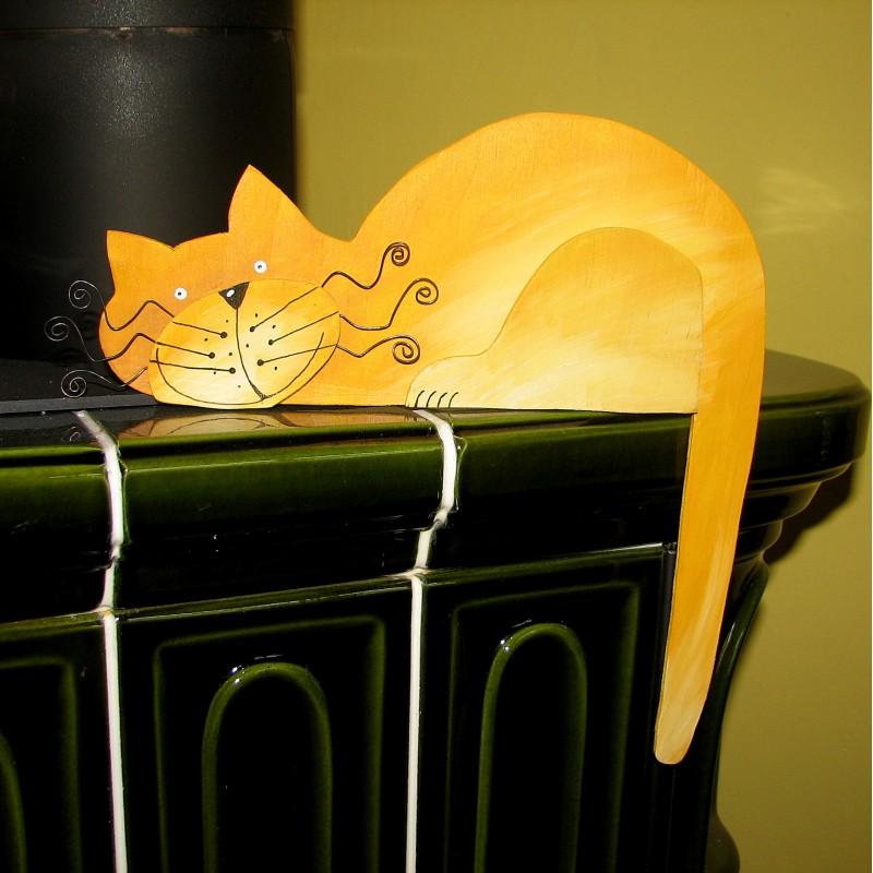 kočka žlutá