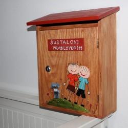 Dřevěná poštovní schránka RODINKA
