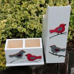 Pořadač ptáčci red